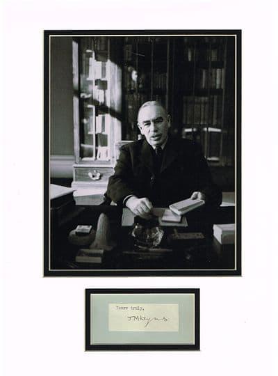 John Maynard Keynes Autograph Signed