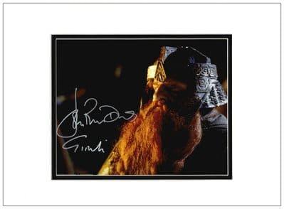 John Rhys-Davies Autograph Signed Photo Gimli  LOTR