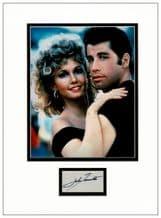John Travolta Autograph Display - Grease