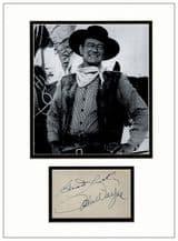 John Wayne Autograph Display