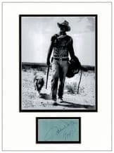 John Wayne Autograph Signed Display