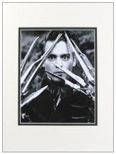 Johnny Depp Autograph Photo Signed - Edward Scissorhands