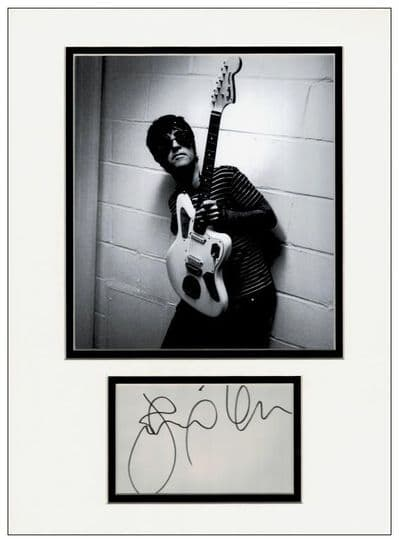 Johnny Marr Autograph Display - The Smiths