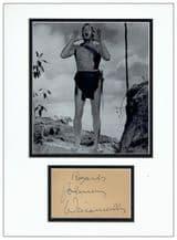 Johnny Weissmuller Autograph Signed - Tarzan