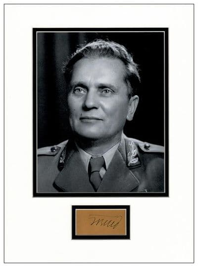 Josip Broz Tito Autograph Signed Display