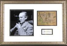 JRR Tolkien Autograph Signed Display