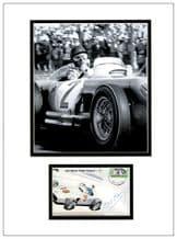 Juan Fangio Autograph Display