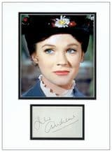 Julie Andrews Autograph Signed - Mary Poppins
