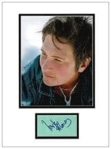 k d lang Autograph Signed Display