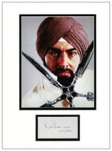 Kabir Bedi Autograph Signed Display - Octopussy