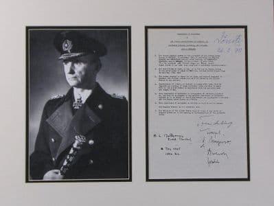 Karl Doenitz Autograph Display