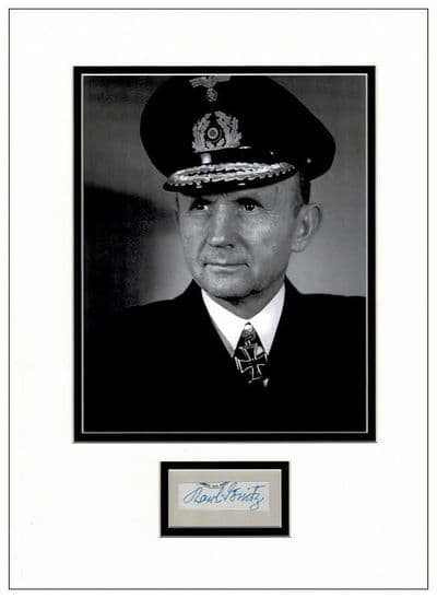 Karl Donitz  Autograph Signed Display