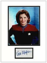 Kate Mulgrew Autograph Signed Display - Voyager