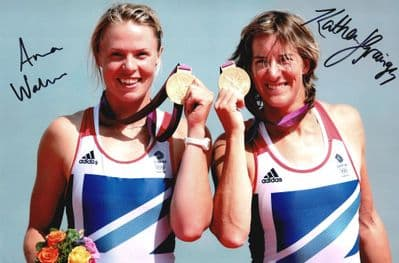 Katherine Grainger and Anna Watkins Autograph Signed Photo - Rowing