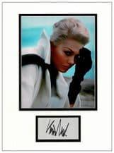 Kim Novak Autograph Signed Display - Vertigo