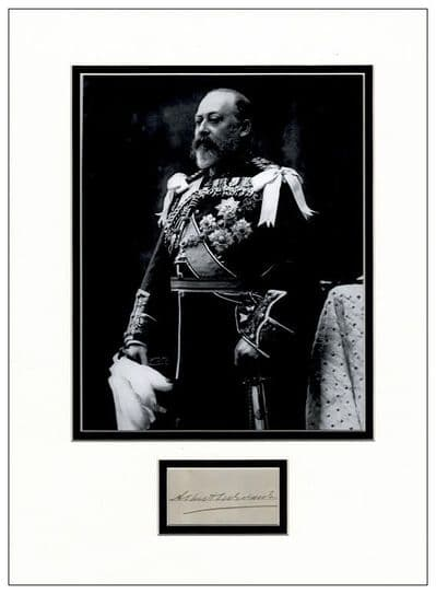 King Edward VII Autograph Signed Display