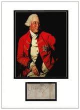 King George III Autograph