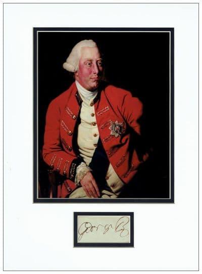 King George III Autograph Display