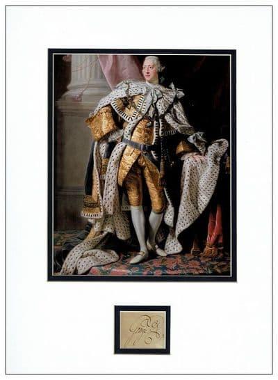 King George III Autograph Signed Display