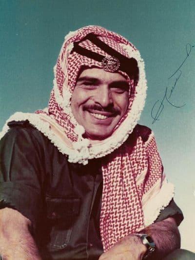 King Hussein of Jordan Signed Photo