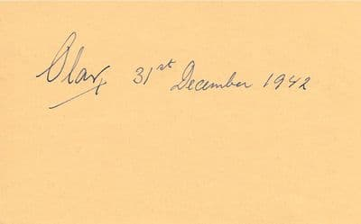 King Olav V of Norway Autograph