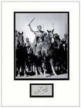 Kirk Douglas Autograph Signed Display - Spartacus