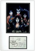 Kiss Autograph Signed Display
