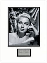 Lana Turner Autograph Signed Display