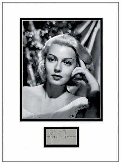 Lana Turner Autograph Signed Display