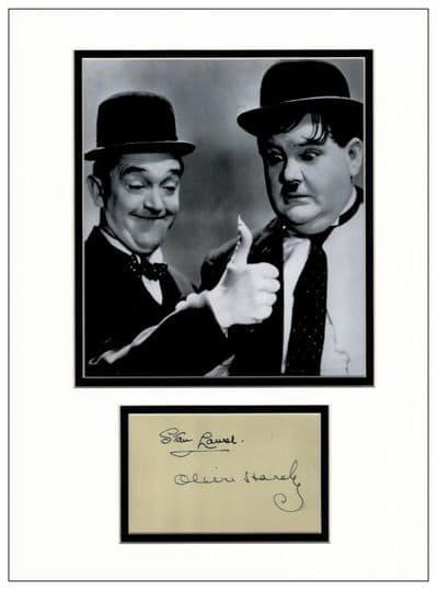 Laurel & Hardy Autograph Signed Memorabilia