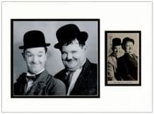 Laurel & Hardy Autograph Signed Photo
