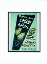 Lauren Bacall & Bruce Bennett Signed Photo - Dark Passage