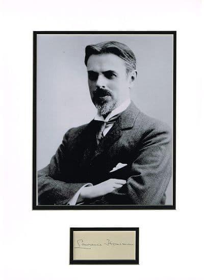 Laurence Housman Autograph Signed Display
