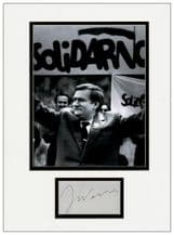 Lech Walesa Autograph Signed Display