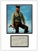 Lee Marvin Autograph Display - The Dirty Dozen