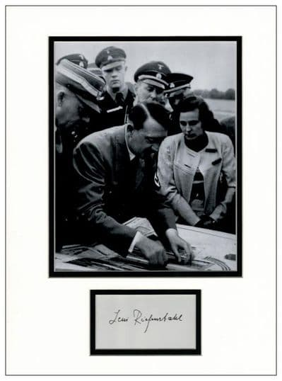 Leni Riefenstahl Autograph Display