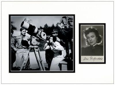Leni Riefenstahl Autograph Signed Display