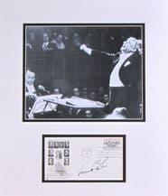 Leonard Bernstein Autograph Signed Display