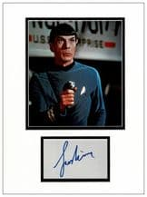 Leonard Nimoy Spock Autograph Display - Star Trek