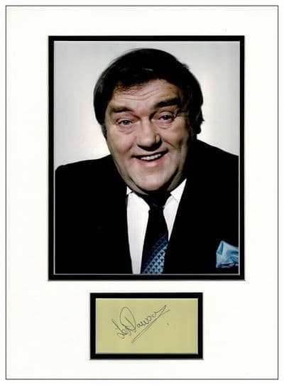 Les Dawson Autograph Signed Display