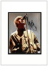 Liam Gallagher Autograph Photo - Oasis