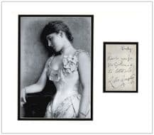 Lillie Langtry Autograph Signed Note Display