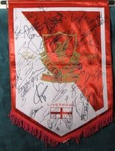 Liverpool Squad Signed Pennant