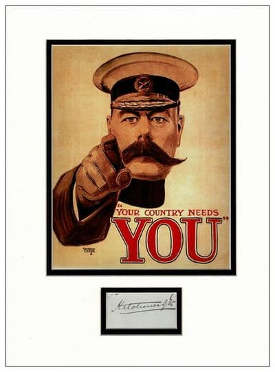 Lord Kitchener Autograph Display