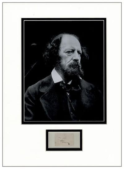 Lord Tennyson Autograph Signed Display