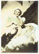 Loretta Young Autograph Photo