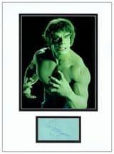 Lou Ferrigno Autograph Display - The Incredible Hulk