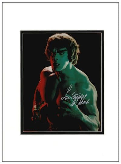 Lou Ferringo Autograph Signed Photo - The Incredible Hulk