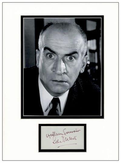 Louis de Funes Autograph Display