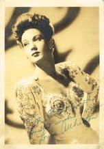 Louise Allbritton Autograph Signed Photo